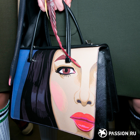 Prada Face Mural Tote Bag